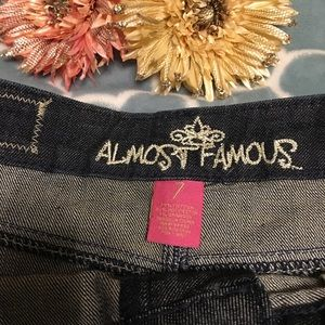 Almost Famous Skirts - Almost Famous Distressed Jean Skirt